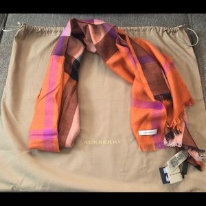 Authentic Burberry Scarf Silk/Cashmere NWOT